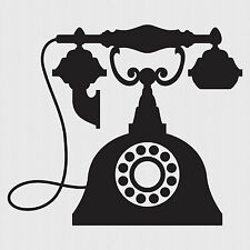VINTAGE TELEPHONE Wall Sticker, Old Phone Wall Art, Antique, V4