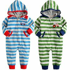 "NWT Vaenait Baby Newborn Infant Baby Girl Boy's Hoodie One-Piece "" Best Driver """