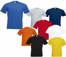 3 MENS FRUIT OF THE LOOM HEAVY COTTON T SHIRTS, CHOOSE YOUR PACK COLOUR & SIZE