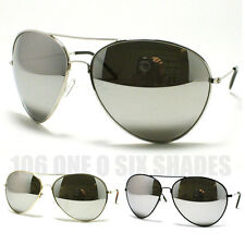 Oversized Aviator Sunglasses Cop Pilot Mirrored Lens Metal Rim Men and Women