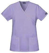 Scrubs Cherokee Workwear Womens Mock Wrap Top 4801  Orchid  FREE SHIPPING!