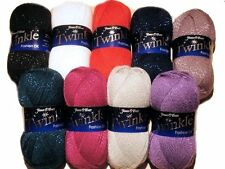 JAMES C BRETT TWINKLE GLITTER DK DOUBLE KNITTING MACHINE WASHABLE WOOL YARN 100g