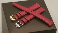 New Gucci 12 MM Hot Pink Lizard Pattern on Genuine Leather Band