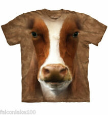 Cow face t-shirt new,rooster,pig,pigs,chickens,cows,brown cows,t-shirts,farm