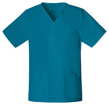 Scrubs Cherokee Workwear Unisex Core Stretch Top 4725 Caribbean  Buy 3 Ship $4