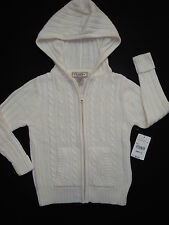 Soft Zip - Up Cable Knit Cardigan with hood by Arizona Jean Company - 5 Sizes