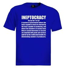 INEPTOCRACY 2012 T-Shirt usa goverment election defintion new tee funny tee