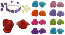 """15 x Flower Shaped Acrylic Beads """"BUY ONE GET ONE FREE"""" 15mm ~ lady-muck1"""