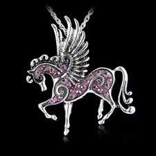 6Colors Hot Pegasus Horse Pendant Charms Necklace Lady Party Costome+A Free Bag