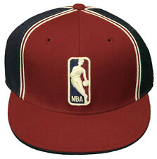 New! NBA Logo Hat- Fitted Flatbill 3D Embroidered Cap - Reebok - Maroon