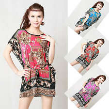 CHIC Lady Floral Summer Casual Tops Short sleeve Cosy T-shirt Size M, L, XL Y303