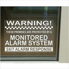 24 Hour Response Monitored Alarm Warning Security Stickers-Home/Business Signs