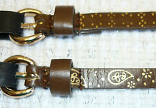 2 New M Style Lab Belts Faux Leather w/ Brass Color Design New With Tags (NWT)