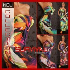 WOMENS NEW MAXI EVENING STRAPLESS DRESS SIZE 8-10 SEXY PARTY CLUB CASUAL HOT