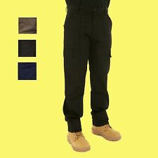 Mens Combat Cargo Action Work Trousers Size 28 to 52 Black or Navy  x 2 PAIRS