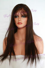 "20""-22"" 100% Indian Remy Hair Full Lace Wig Straight #2"