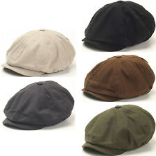 New Men Gatsby Eight Panel Cotton Newsboy Ivy Cap Flat hat Style Golf Visor