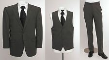 "BNWT SKOPES Wool Blend 3 Piece Suit Grey,Chest 36"" to 46"" Short, Regular & Long"