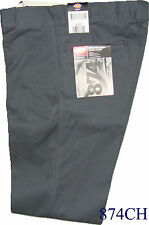 "Dickies 874CH Plain Front Twill Pants Color Charcoal  ""  874  ""  W 30 to W 44"