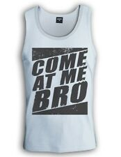 Come at Me Bro Vintage Singlet Tank Top Jersey Shore Cool Story Funny Gag Style