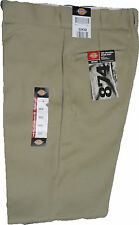"Dickies 874KH  Plain Front Twill Pants  Color Khaki "" 874 Series ""  W 28 to W 44"
