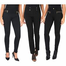 Women Formal Business Ruffle High Waist Pencil Trousers Pants SkinnyWork Office