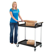 Mobile Plastic Storage Tray Trolleys Picking 2 or 3 Tier Cart Mover