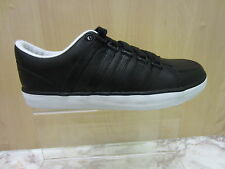 Mens K-Swiss Lace Up Trainer, Black & White, Leather, Gowmet 11