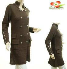 BRN Outerwear Double Breasted Knit Wool Sweatercoat Cardigan Jacket Trench Coat