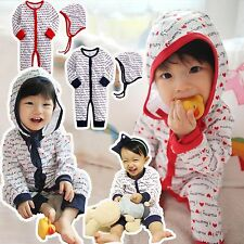 "NWT Vaenait Baby Newborn Toddler Onepiece + String Hat Set ""Mommy and Daddy"""
