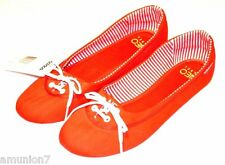 ADIDAS Neo Lina Flats Shoes size 5 6 7 8 9 10 11 Red Canvas Soft Foam Insole Pad
