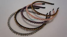 ~* STYLISH FAUX CRYSTAL HAIR BAND ACCESSORIES PINK PURPLE BROWN GRAY BLACK *~