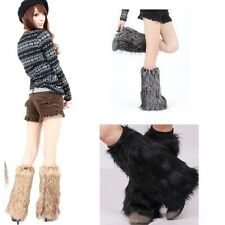 New Fashion Boot Cuff Fluffy Soft Furry Faux Fur Leg Warmers Boot Toppers GL