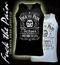 Fuck the pain,Jack,Motorrad,Rock n Roll,Muskelshirt,Iron Cross,Chopper,Biker,Gym