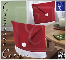6 Set Chrismas Hat dining Chair covers. Santa Hat Table decor. Christmas Party.