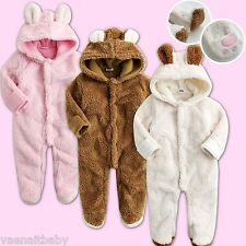 "NWT Vaenait Baby Winter Snowsuit Fleece Hoodie Jumpsuit Outwear ""Cozy Animal"""
