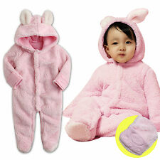 "NWT Vaenait Baby Winter Snowsuit Fleece Hoodie Jumpsuit Outwear ""Cozy_Rabbit"""