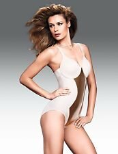 Flexees Easy-Up Minimizer Bra with Bodybriefer #2306 Beige NWT