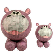 Paper Mache Hippo Figurines Handmade in the Philippines | Fair Trade |