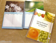 Home Finance Bill Organizer & Planner ~ Choose from 4 different styles