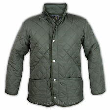 Mens Jacket Soul Star Coat Kami Diamond Quilted Padded Cord Patches
