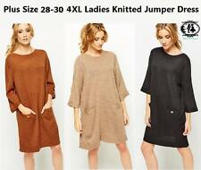 LADIES CABLE KNITTED JUMPER SZ8-16 KIMONO SWEATER SLOUCH BLOUSE TOP DRESS PONCHO