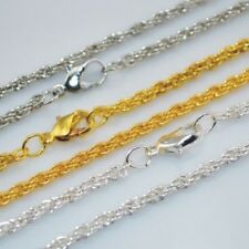 5PCS 2mm 42cm dull/silver gold plating short necklace Chain Jewellery Making