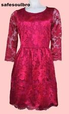 BN GORGEOUS WAREHOUSE FUCHSIA PINK LACE SKATER DRESS SIZE 8 10 12 16 RRP £50 WOW