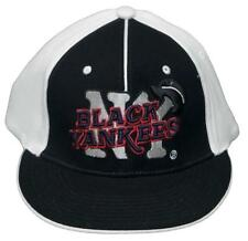 New! New York Black Yankees Fitted Flatbill 3D Embroidered Cap -NLB -Black/White