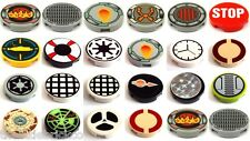 ♥ LEGO ♥ Decorated Tile, Round 2 x 2 (4150) Select Pattern Choice
