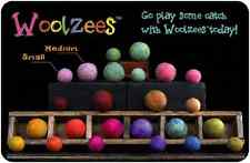 SMALL WOOLZEE - 100% NZ Boiled Wool Ball Small Dog Toy Assorted Colors to Choose