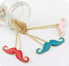 3Color Fashion Moustache Handlebar Mustache Necklace