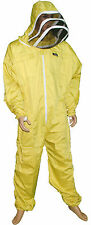 Pro's Choice Best Beekeeping Suit, Yellow Color with Free Gloves Thread(r) Brand