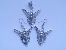 Fairy Tibetan silver earrings & pendants, beautiful & elegant, lovely wings